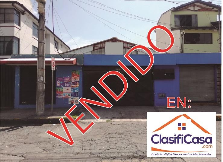 VENDO TERRENO Y GALPÓN DE 330 M2 EN ZONA COMERCIAL NORTE DE QUITO